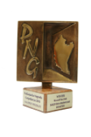 Statuetka Podkarpackiej Nagrody Gospodarczej 2013.
