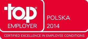 Certyfikat Top Employers 2014.
